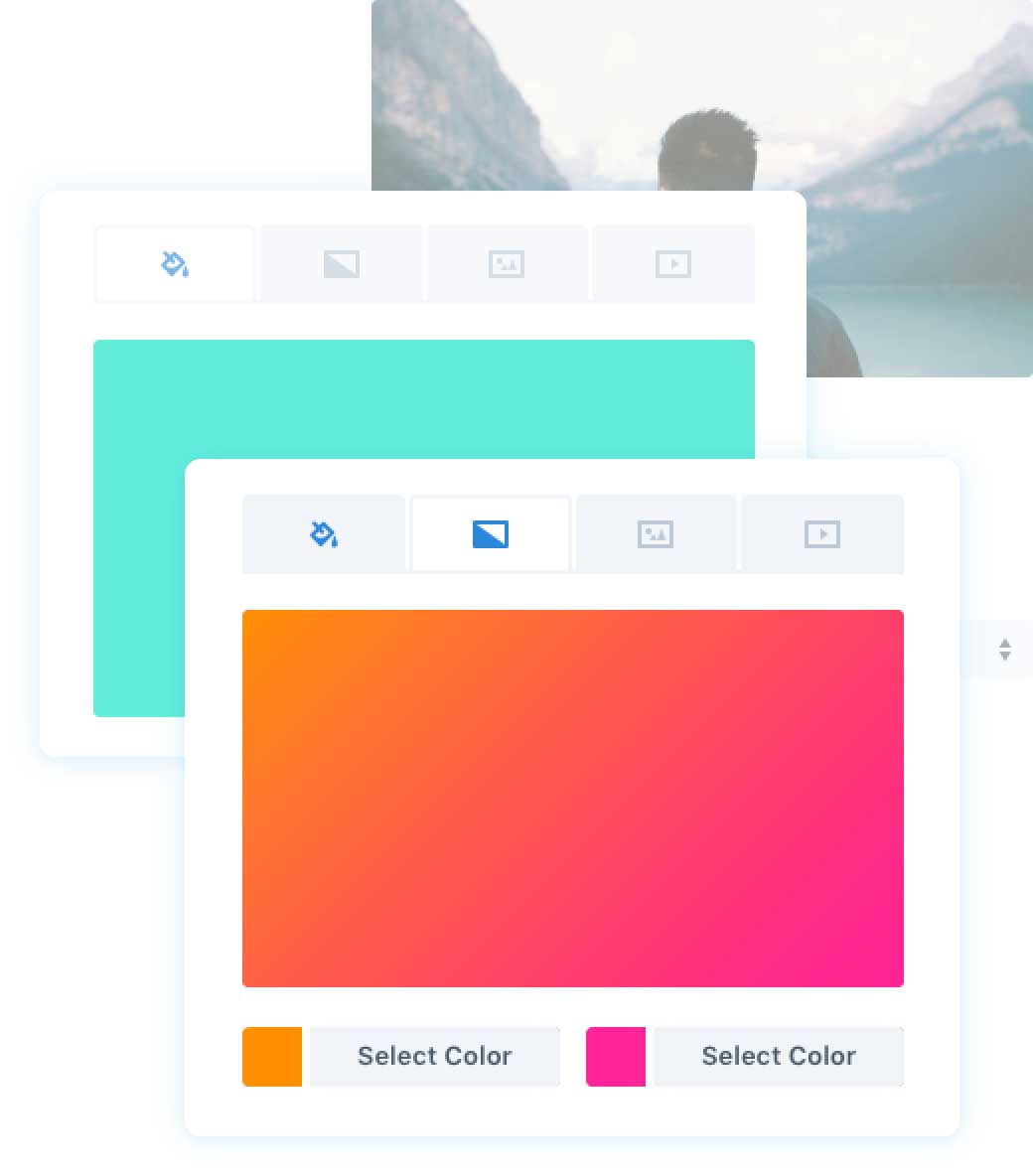 Visual Builder Gradient Colors