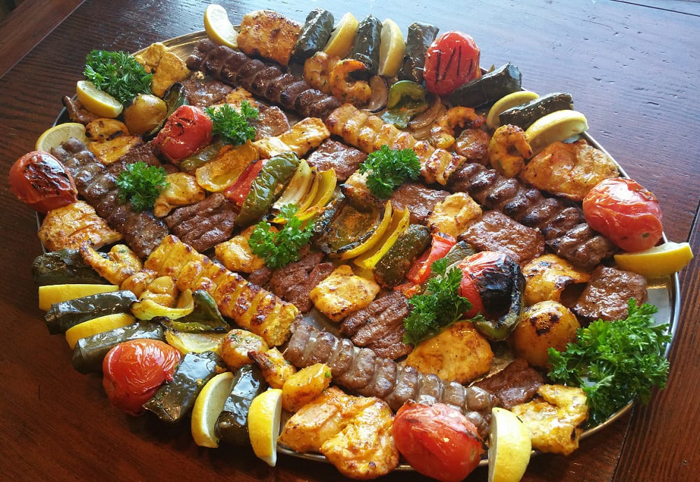 Large Kabab Meat Plate for Los Angeles Catering
